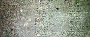 George James Dawks on the Tyne Cot Memorial