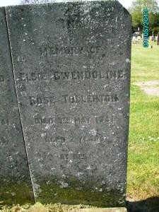 Headstone for Elsie Gwendoline Rose Tollerton