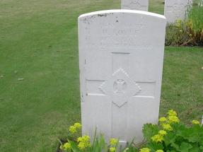 Headstone for Harold Royle