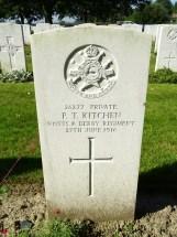 Headstone for Percy Thomas Kitchen