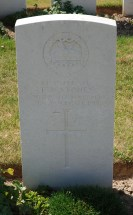 Headstone for Thomas Arthur Stones