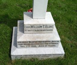 Headstone for William Thomas Blunt (Close up)