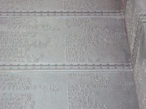 Memorial panel for William George Worrell