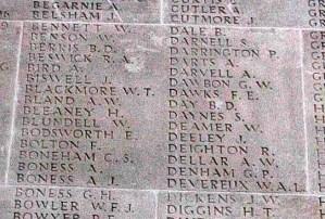 Panel for Francis Ernest Dawks