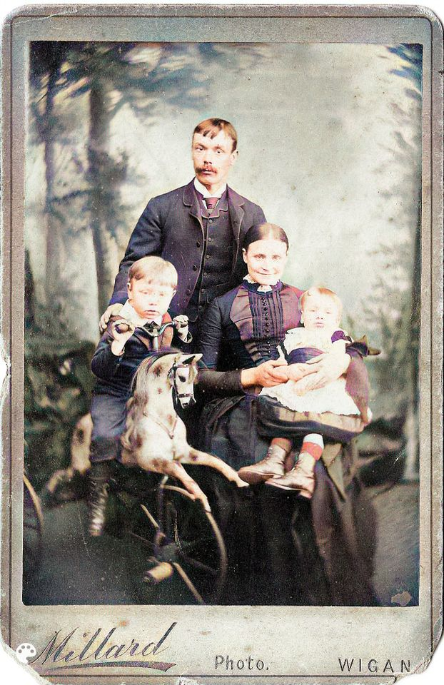 William Fielding, his wife Mary, and 2 of their children