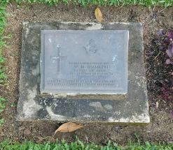 Headstone for Walter Martin Scammell at Ambon War Cemetery in Indonesia (Image courtesy of Jenny Ashcraft at www.findagrave.com)