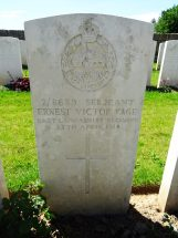 Headstone for Ernest Victor Page