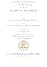 ABMC Certificate for Irving Wilson Voorhees Jr