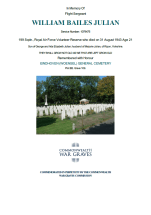 CWGC Certificate for William Bailes Julian