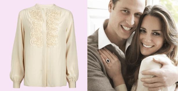 Kate Whistles Engagement Silk Blouse