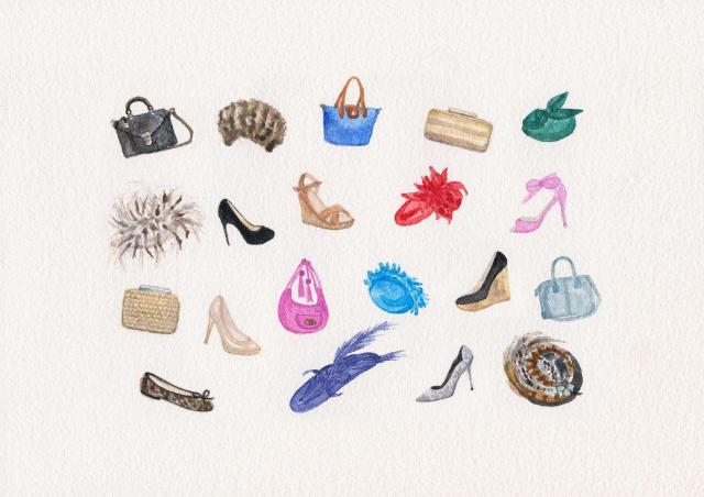 hats and bags and shoes A4