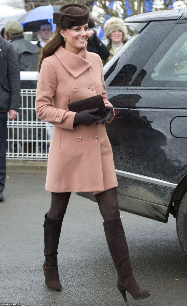 Duchess of Cambridge Cheltenham 2014