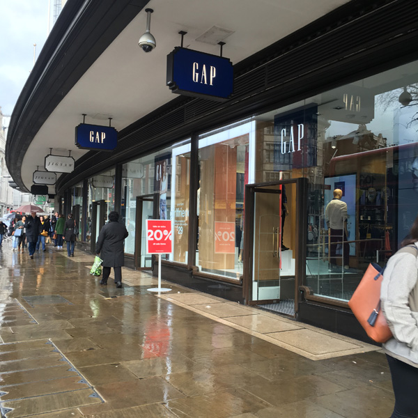 GAP and Jigsaw Kensington