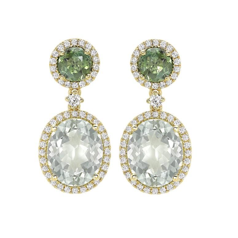 kiki mcdonough green amethyst oval drop earrings as worn by Kate middleton
