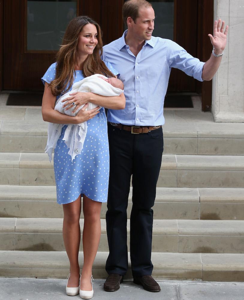 Kate Middleton Blue Polka Dot Dress Lindo Wing