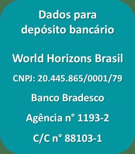 Dados para depósito bancário