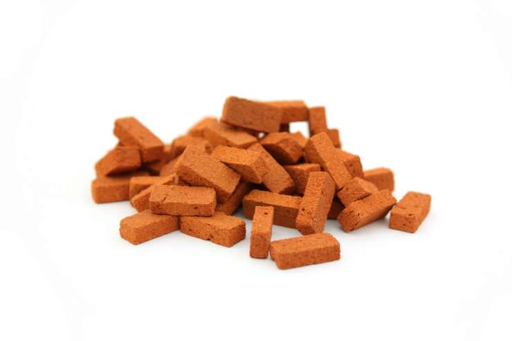 Pile of bricks isolated
