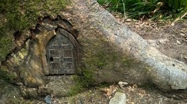 Who lives here? Pixies at Lydford Gorge, a National Trust property near Wheatland Farm's Devon eco lodges