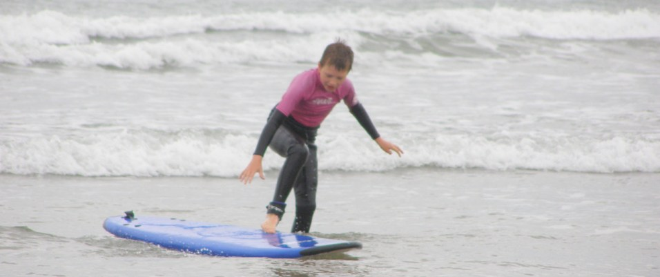 Surfing with North Devon surf school