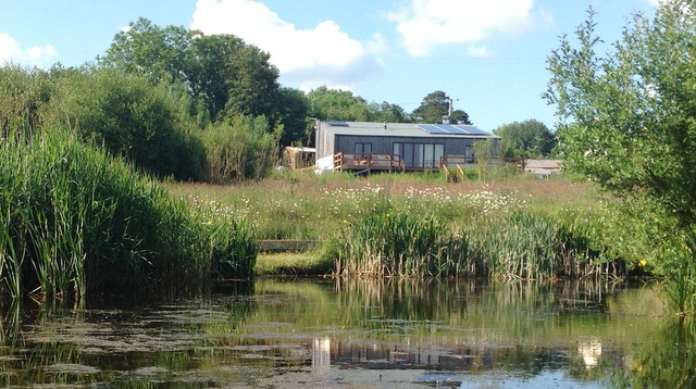 Balebarn Devon Eco Lodge, from the wildlife pond