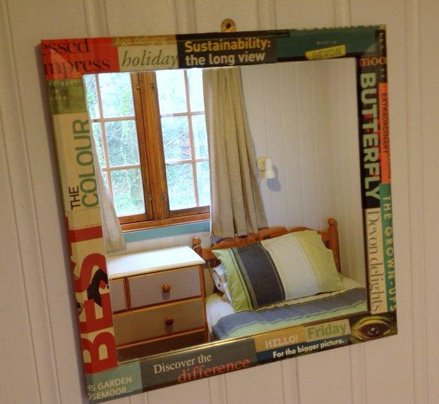 Mirror in Beech Eco Lodge