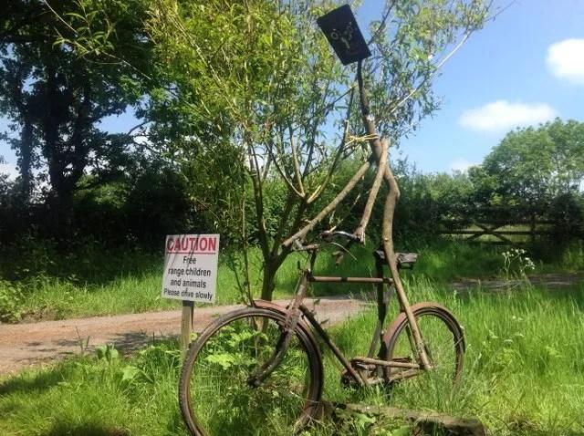 Bikeman at Wheatland Farm