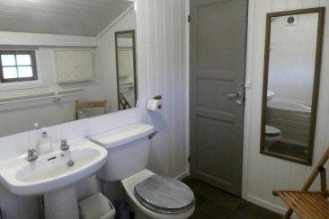 A proper bathroom, with full sized bath