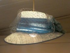 A hat from the charity shop has become a quirky light fitting