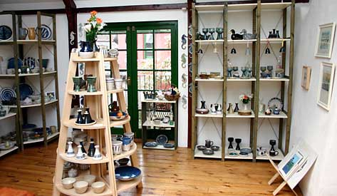 Hatherleigh Pottery display shelves