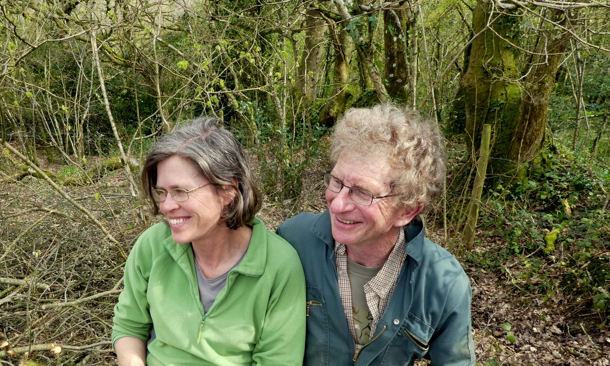Maggie and Ian from Wheatland Farm's Devon Eco Lodges