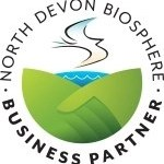 Wheatland Farm's North Devon Biosphere Business Partnership logo