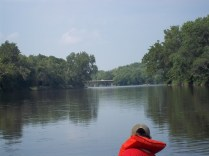 view from the canoe! downriver