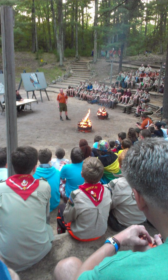 the opening night campfire