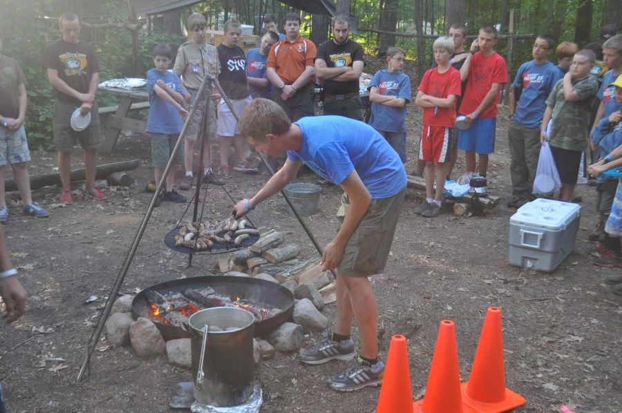 Mark cooking for the whole camp