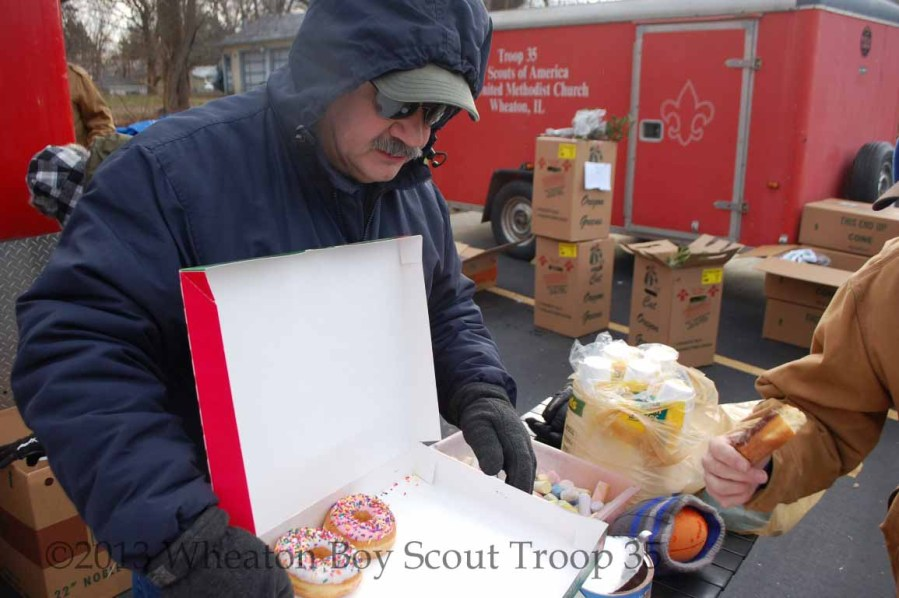 donuts help the wreath distribution hum right along
