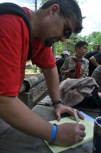 Scoutmaster doing Scoutmaster things