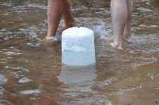 Yep, that's a big block of ice.