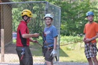 Matt M. on the rappelling wall