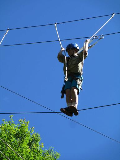 Daniel climbing