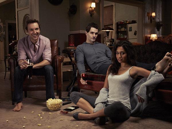 Sam Huntington as Josh, Sam Witwer as Aiden, Meaghan Rath as Sally