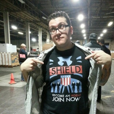 Agent M on the set of Joss Whedon's 'S.H.I.E.L.D.'