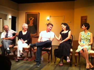 A moment of camaraderie during the cast Q&A. Photo Credit: Isis Nocturne