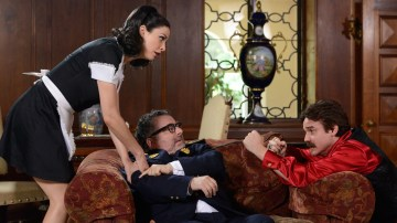 Myka, Artie, and Pete find themselves in a Spanish soap opera in this week's Warehouse 13. Photo Credit: SyFy.com