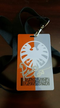 Agents badge signed