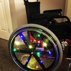 Wheelchair Lights French Country Rocking Chair Cushions Christmas