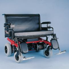 Bariatric Transport Chair 500 Lbs Recliner Covers At Walmart Big Bounder Power Wheelchair H Frame In Red