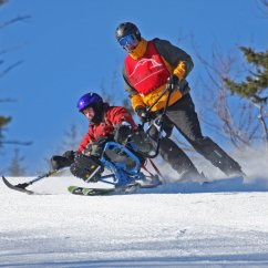Wheelchair Skiing Industrial Chairs Target Usa And Canada Accessible Snow