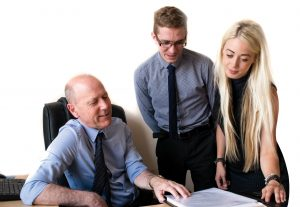 Photo of Paul Wheeler Jacob Sandbach and Laura Barton Conveyancing Team at Wheelers Solicitors