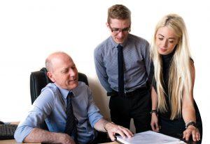 Photo of Paul Wheeler Jacob Sandbach and Laura Barton Conveyancing Team at Wheelers Solicitors