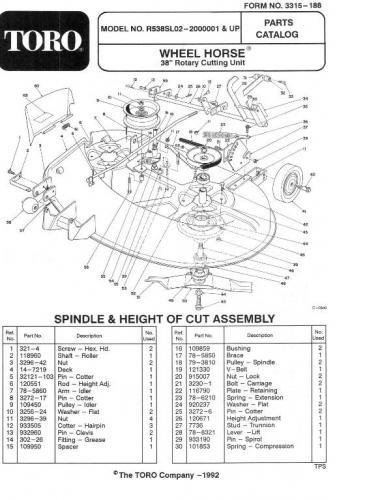 Mower Rotary 38in SD 1992 R5-38SL02 Recycler OM IPL sn.pdf